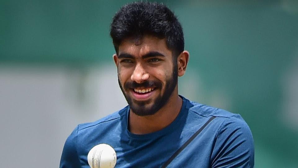 Jasprit Bumrah during a practice session.