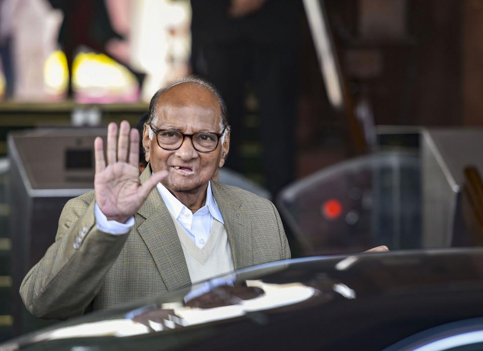 NCP chief Sharad Pawar leaves after meeting with Prime Minister Narendra Modi to discuss farmers' issues at Parliament House, in New Delhi,  on Wednesday.