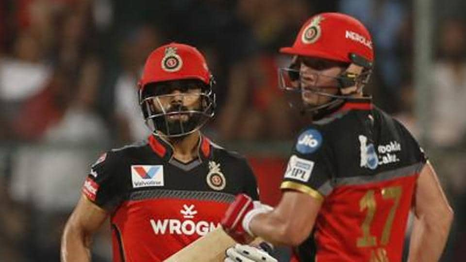 FIle image of RCB cricketers Virat Kohli and AB de Villiers.