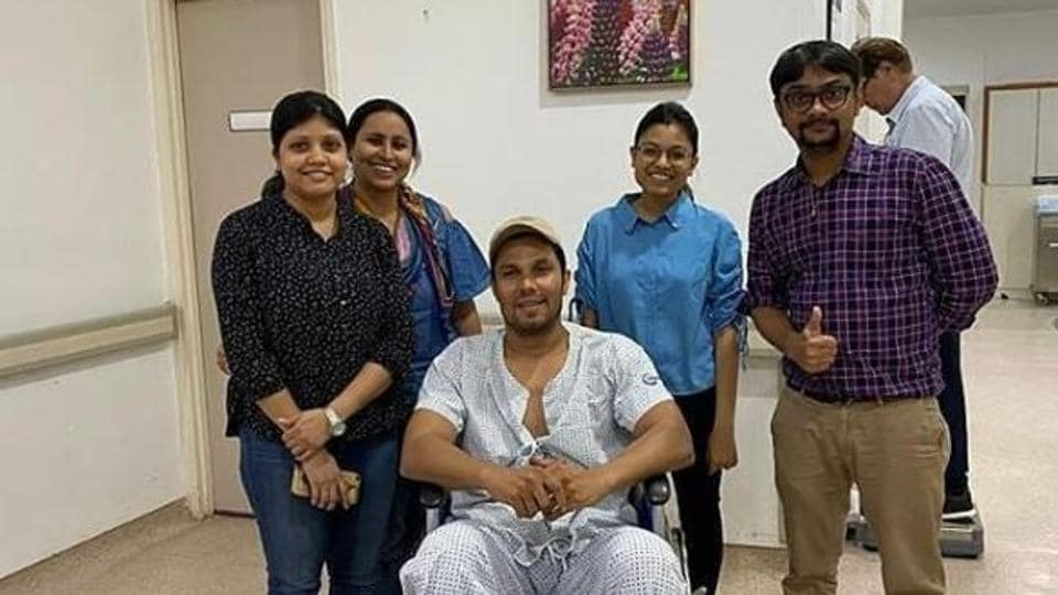 Randeep Hooda inside the hospital in a picture being widely shared online.
