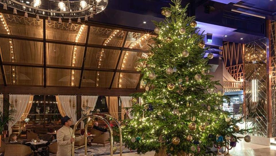 The hotel collaborated with fashion designer turned baker Debbie Wingham to create the Christmas tree which is said to be worth a whopping £11.9 million ($15.4 million) for display at the resort.