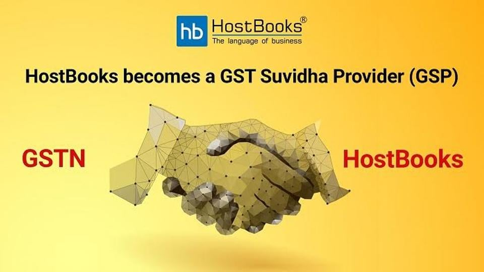 HostBooks Selected as GST Suvidha Providers (GSP) by GSTN