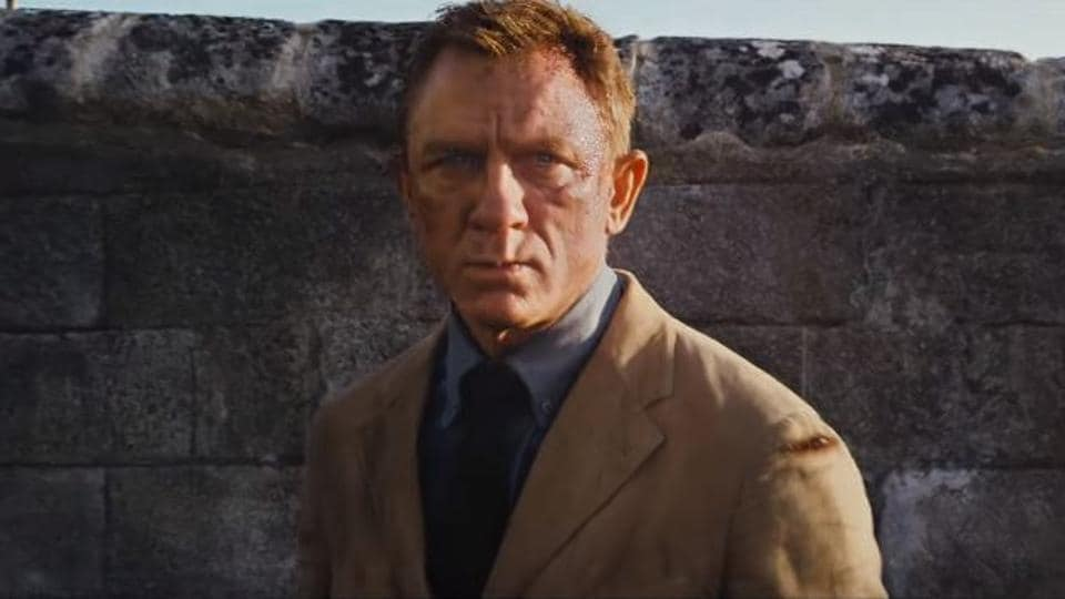 Daniel Craig as James Bond in a still from the No Time To Die trailer.