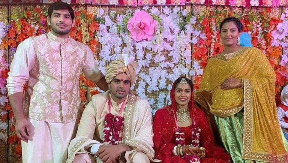 Babita Phogat got married to Vivek Suhag in a traditional ceremony.