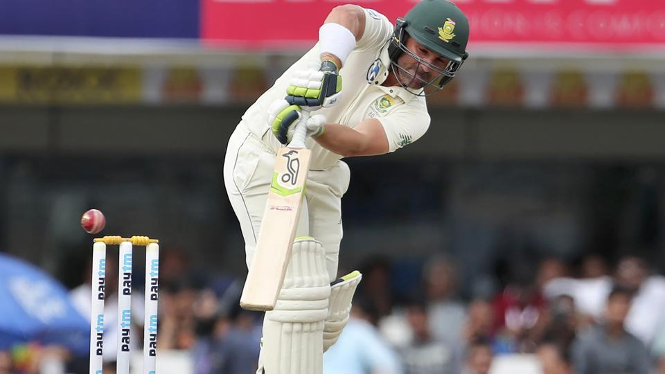 South Africa's Deal Elgar in action.