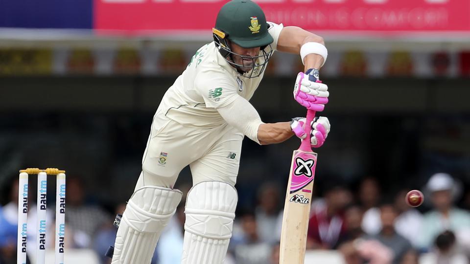 South Africa captain Faf du Plessis bats.