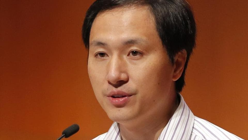 In this Nov. 28, 2018, file photo, He Jiankui, a Chinese researcher, speaks during the Human Genome Editing Conference in Hong Kong.