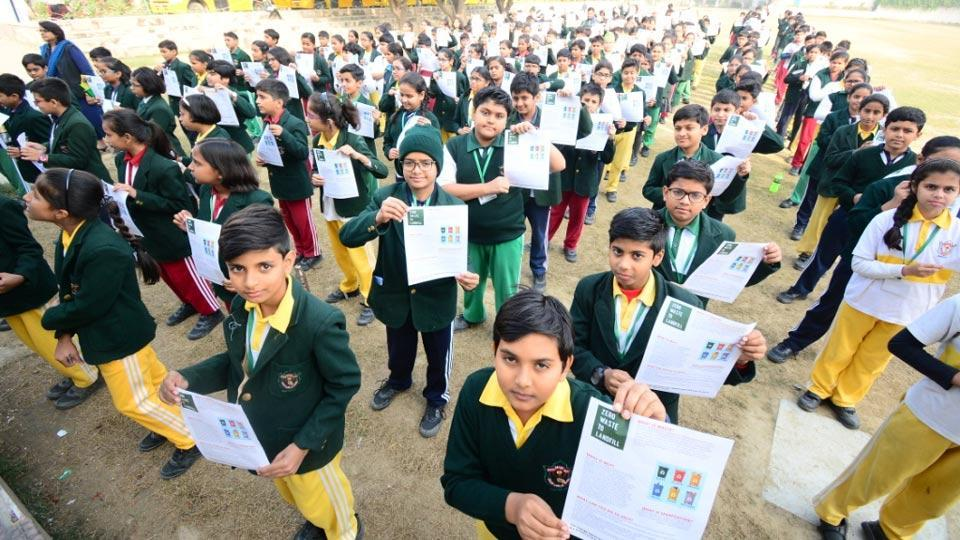 On December 3, 2019, students of Delhi Public School in Varanasi were educated about the proper management of dry waste.
