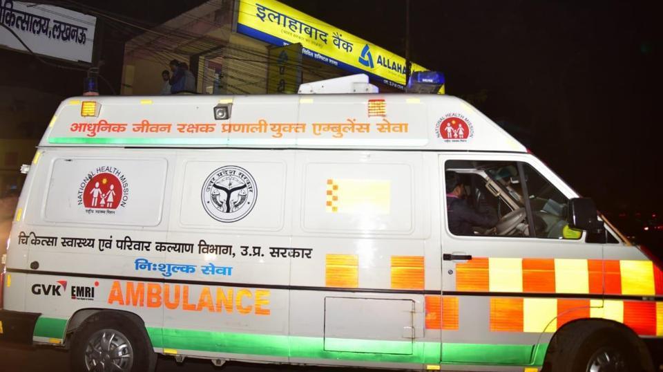 The Unnao rape survivor being taken to New Delhi for intensive treatment on Thursday.