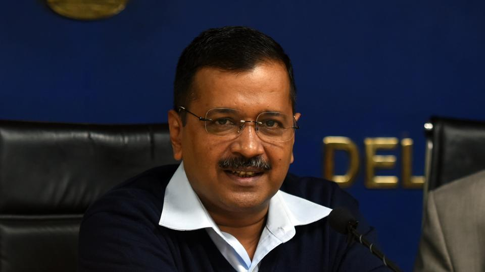 Delhi Chief Minister Arvind Kejriwal addresses the media during a press conference on Wi-Fi hotspots to be set up at bus stops and markets, at Media Center Delhi Secretariat, in New Delhi on December 4.