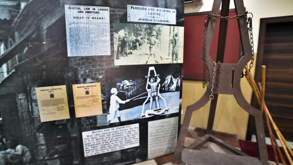 Despite international condemnation, public flogging is common for a range of offences banned under local Islamic law in the conservative Aceh region on Sumatra island, including gambling, drinking alcohol, and having gay or pre-marital sex. In this file picture, a replica of a flogging post is displayed at Guru Nanak Bhawan in Ludhiana on Monday, August 26, 2019.