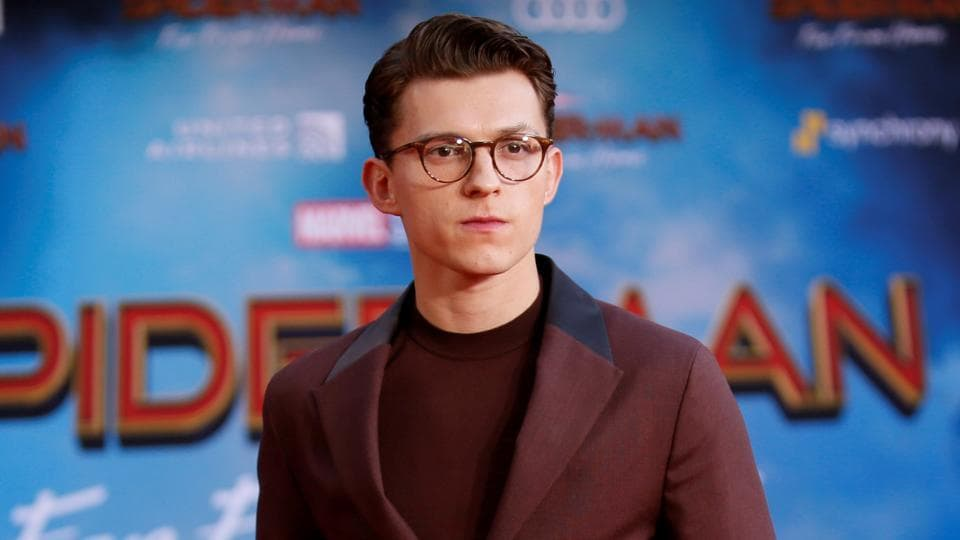 Actor Tom Holland poses at the World Premiere of Marvel Studios' Spider-man: Far From Home in Los Angeles.