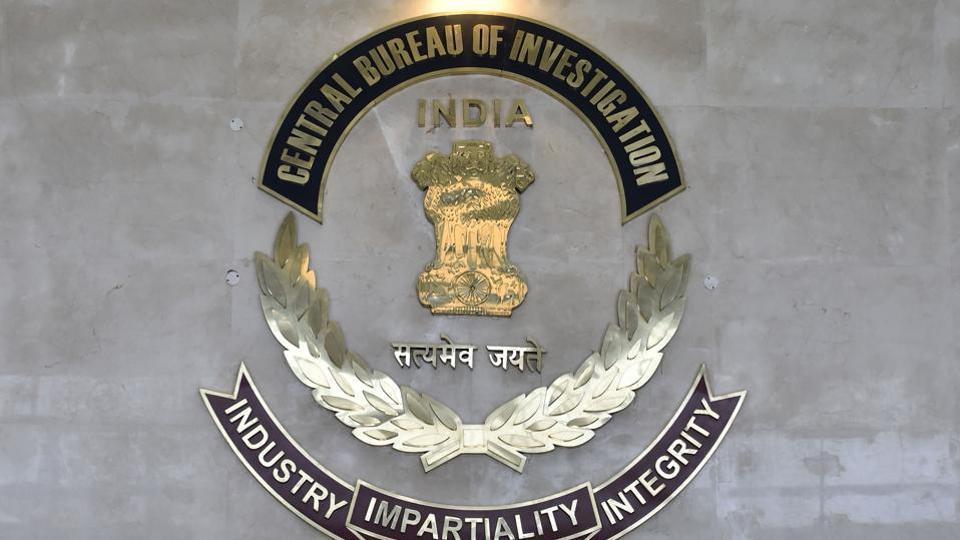 Central Bureau of Investigation (CBI) logo at CBI HQ, in New Delhi.