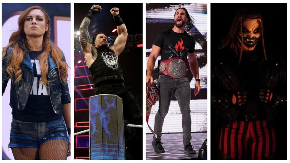 Becky Lynch, Roman Reigns, Seth Rollins and Bray Wyatt fighting for the top.