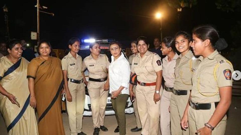 Ahead of Mardaani 2, Rani Mukerji meets special night patrol team in Mumbai. See...
