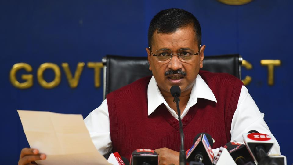 Delhi Chief Minister Arvind Kejriwal speaks to media during a press conference in New Delhi, on November 27.