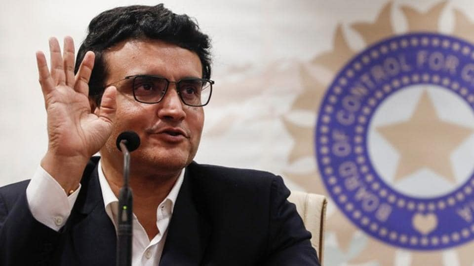 Former Indian cricketer and current BCCI president Sourav Ganguly.