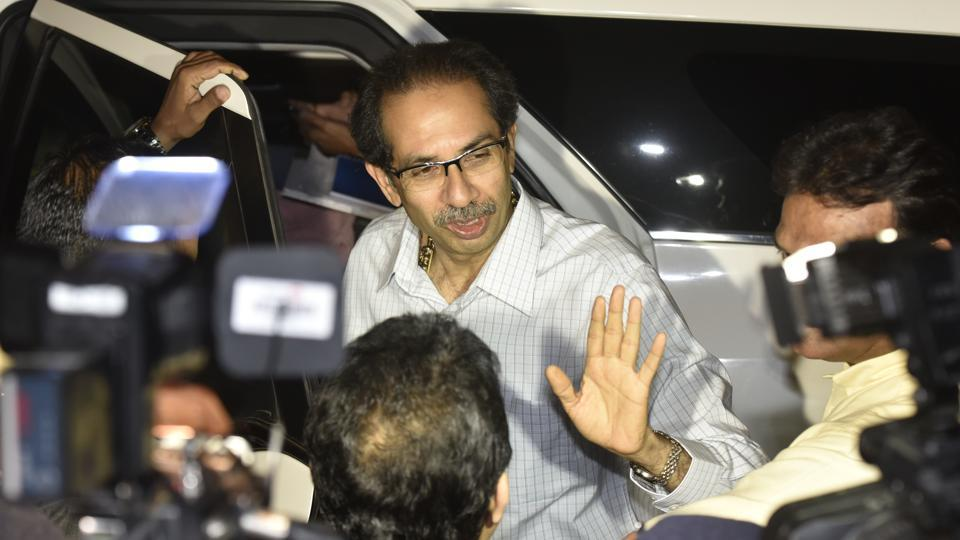 CM Uddhav Thackeray leaves the BMC headquarter after reviewing disaster preparedness and arrangements for Mahaparinirvan Dayin Mumbai on December 5.