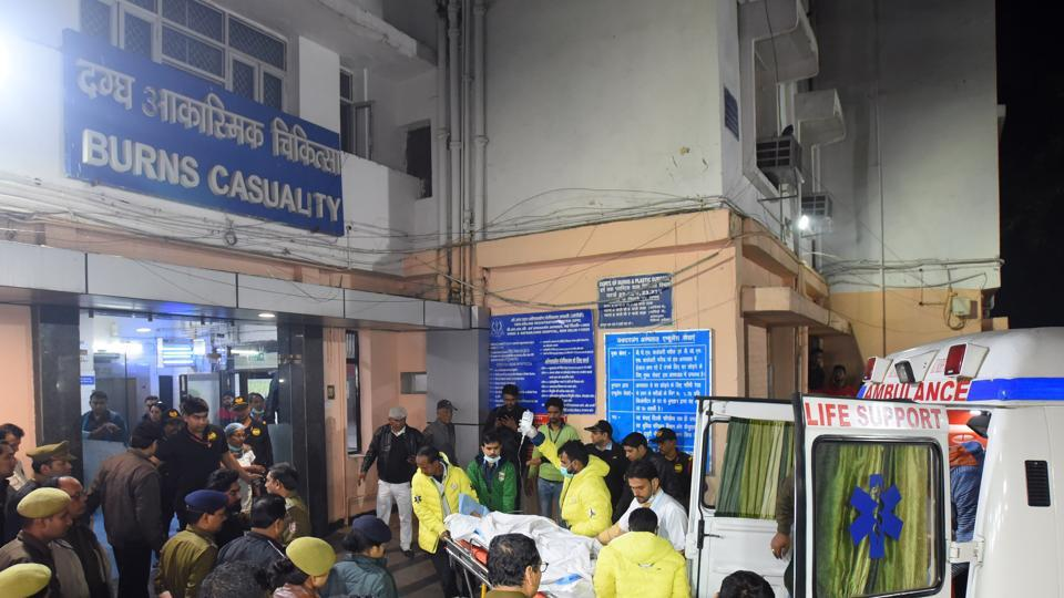 The Unnao rape survivor was brought to Safdarjung Hospital for further treatment, in New Delhi, on Thursday, December 5, 2019.