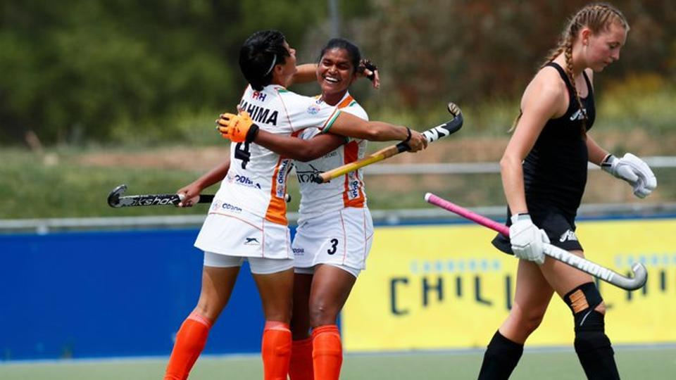India came from a goal down to defeat New Zealand.