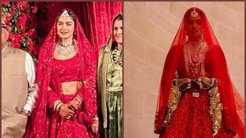 Babita got married in the gorgeous red lehenga by ace couturier Sabyasachi Mukherjee which was also seen on Priyanka Chopra Jonas when she married Nick Jonas last year.
