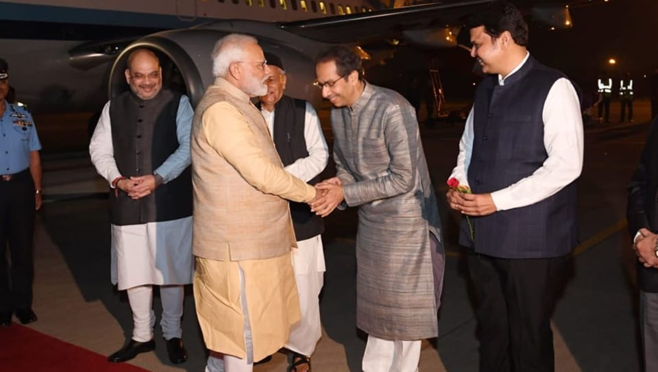 Besides Thackeray, home minister Amit Shah, who is in Pune, former chief minister Devendra Fadnavis and Governor Bhagat Singh Koshiyari were present to receive Modi.