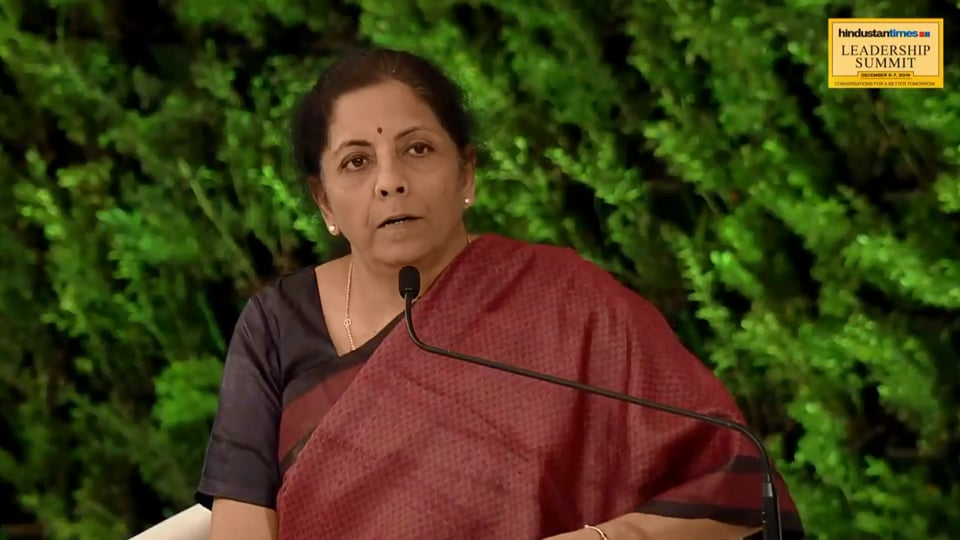 Asked if the government is thinking of an income tax cut to boost the economy, Sitharaman said that the government is considering it.