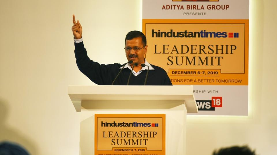 Delhi Chief Minister Arvind Kejriwal at HT Leadership Summit 2019.