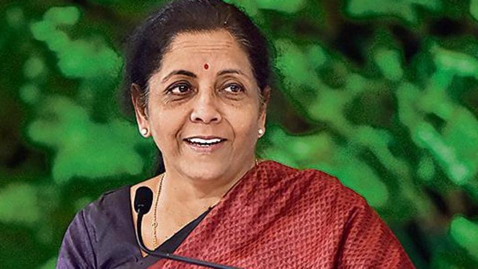 Nirmala Sitharaman during the Hindustan Times Leadership Summit at Taj Palace in New Delhi.