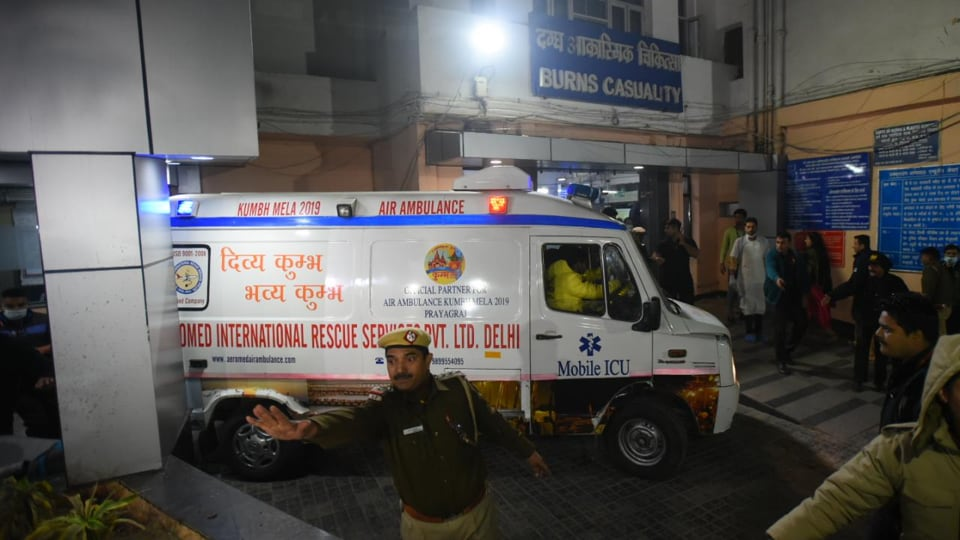 Unnao Rape Victim arrives at safdarjung hospital for further treatment in New Delhi. The 24-year-old woman succumbed to her injuries and burns on late Friday night.