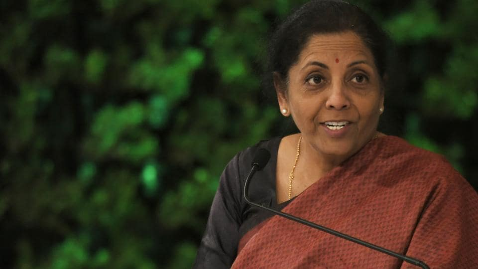 Union finance minister Nirmala Sitharaman  during the Hindustan Times Leadership Summit, December 7, 2019.