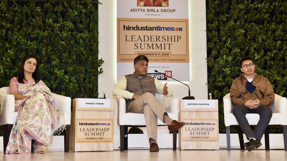 "On the Telangana encounter and support for it, ""People are getting impatient with legal delays. The faith of ordinary people on law because of this is eroding rapidly,"" Congress leader Manish Tewari. ""There is a need for speedy justice. Because, justice delayed is justice denied. But, we can't be okay with this blood lust. This is not the right thing. This is not jungle raj,"" said TMC MP Mahua Moitra. (Sanjeev Verma / HT Photo)"