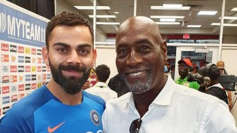 File image: India skipper Virat Kohli with former Windies cricketer Viv Richards.