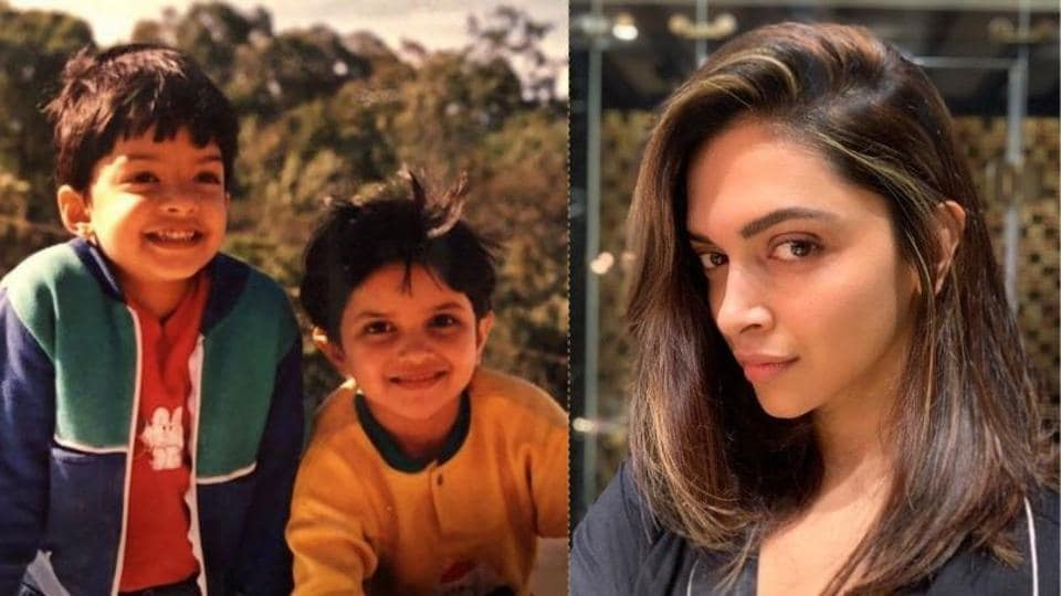 Deepika Padukone posted a childhood picture and a selfie on Instagram on Sunday.