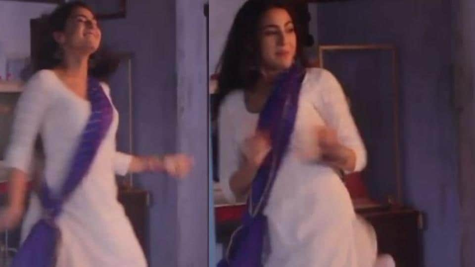 Sara Ali Khan grooves to Ranbir Kapoor's Badtameez Dil on sets of Kedarnath, fans...