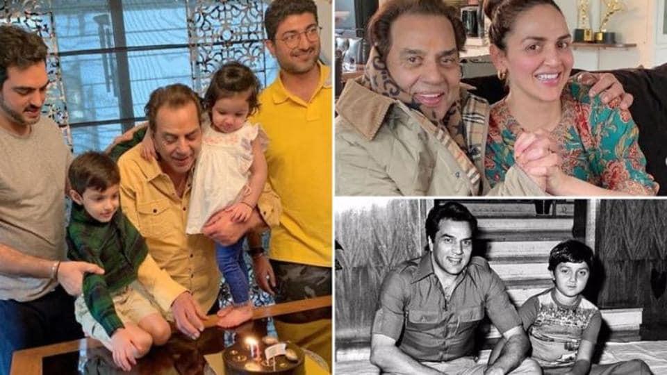 Bobby Deol, sisters Esha and Ahana Deol wish Dharamendra on his 84th birthday, share...