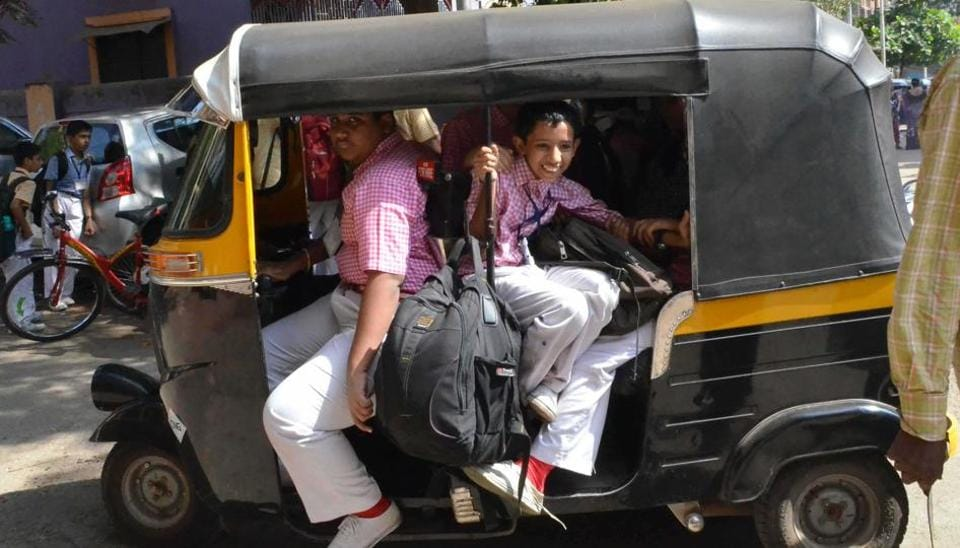 Activists and parents, alike, have raised the issue of overcrowded autorickshaws ferrying schoolchildren as a safety hazard in the city.