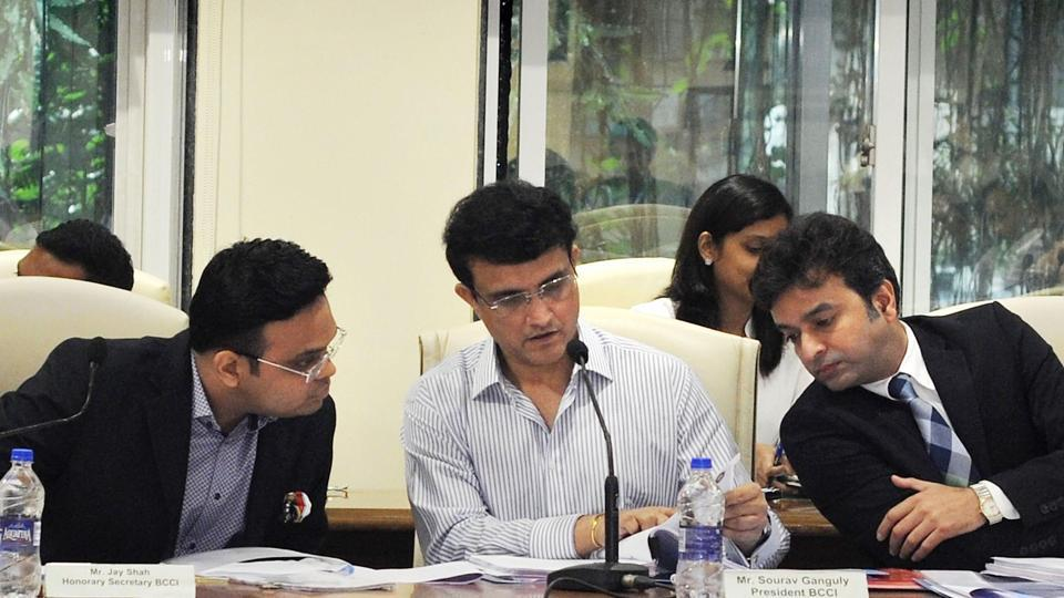 Board of Control for Cricket in India (BCCI) president Sourav Ganguly with BCCI Secretary Jay Shah.