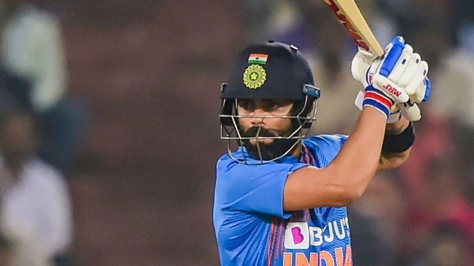 Hyderabad: India's skipper Virat Kohli plays a shot during the first T20 cricket match against West Indies.