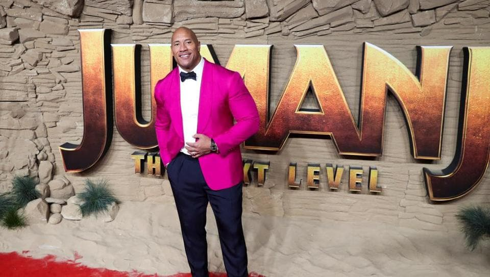 Dwayne Johnson poses as he arrives to the premiere of Jumanji: The Next Level in London, Britain December 5, 2019.