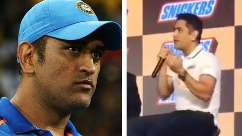 MSDhoni was caught singing at an event.