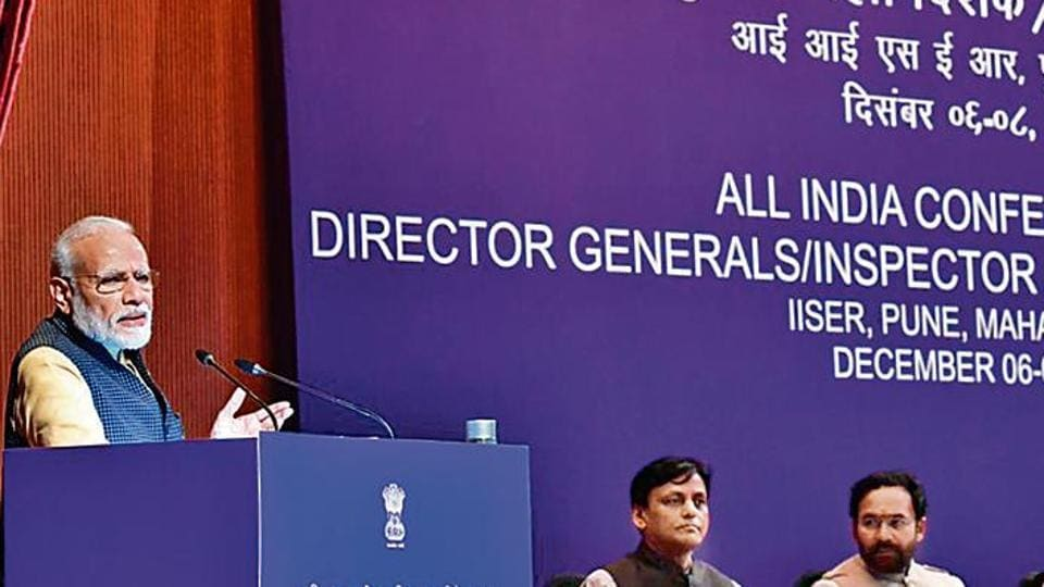 A statement issued by the Prime Minister's Office said PM Modi was of the view that technology provides an effective weapon to ensure proactive policing that factors in the feedback of the common man.