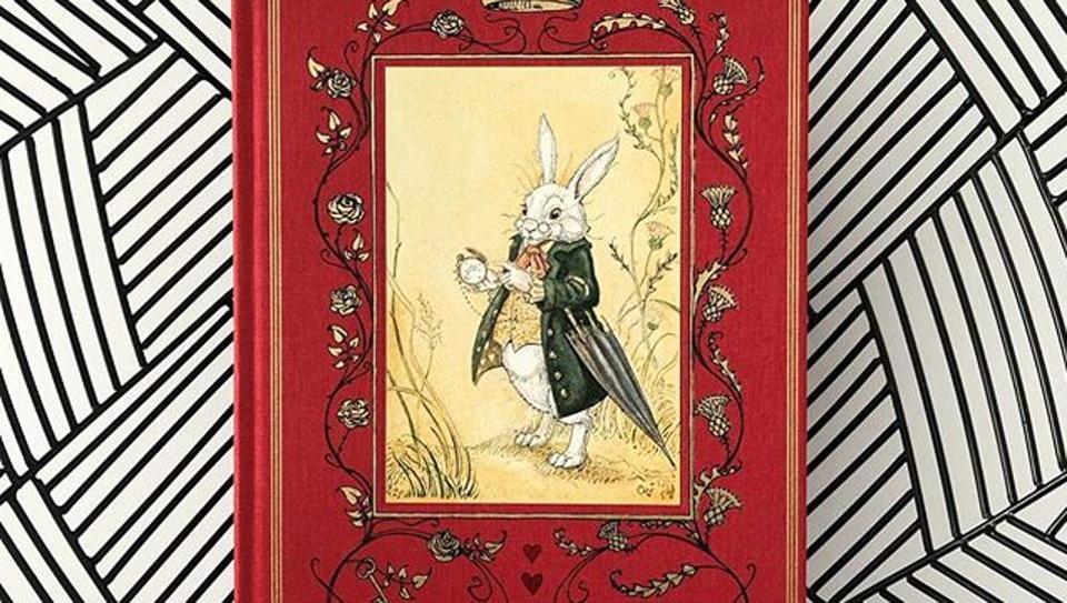 Original Alice in Wonderland manuscript set for display at exhibition.