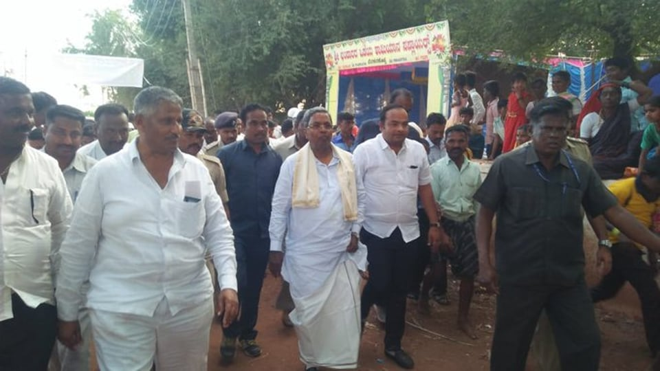 The bypolls were necessitated because of the resignation of 17 legislators from the Congress-Janata Dal (Secular) alliance in July. These MLAs had joined the saffron fold and the BJP fielded 16 of them in Thursday's bypolls. (Photo @siddaramaiah)