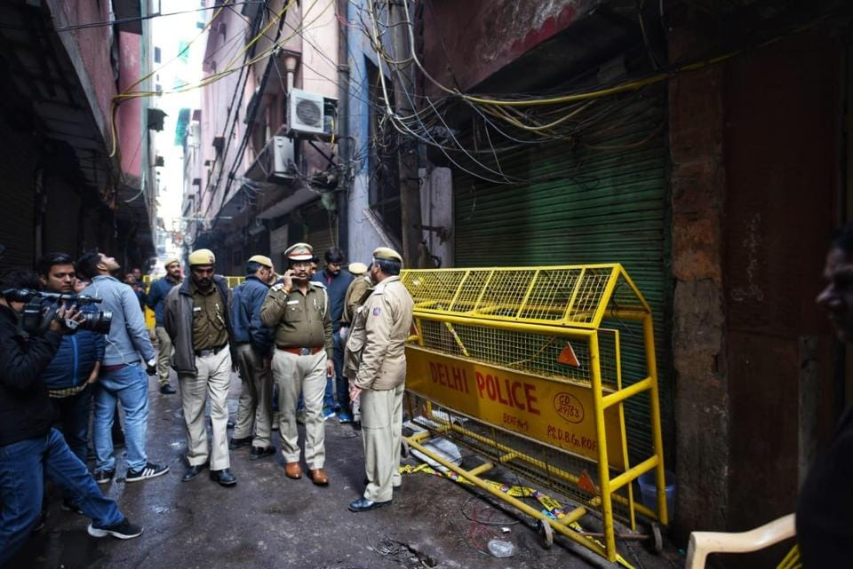 The fire at Rani Jhansi Road in Delhi on Sunday morning killed 43 people.