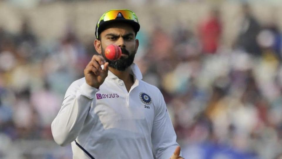 File image of India skipper Virat Kohli with pink ball.