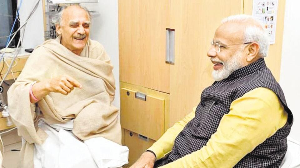 The meeting lasted for 45 minutes at Ruby Hall Clinic, Sangamwadi, where the two exchanged pleasantries.