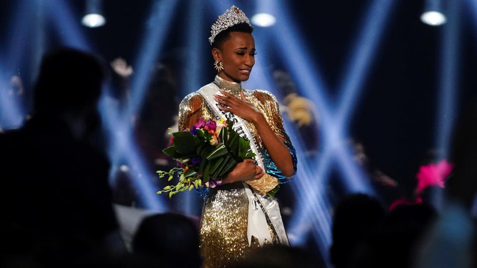 Zozibini Tunzi, of South Africa, takes her first walk as Miss Universe after winning the 2019 Miss Universe pageant at Tyler Perry Studios in Atlanta, Georgia, U.S. December 8, 2019. REUTERS/Elijah Nouvelage