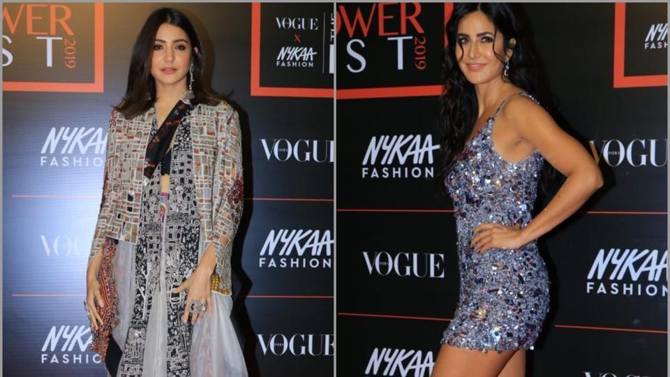 Anushka Sharma, Katrina Kaif stun on the Vogue India X Nykaa Fashion Power List 2019 red carpet.
