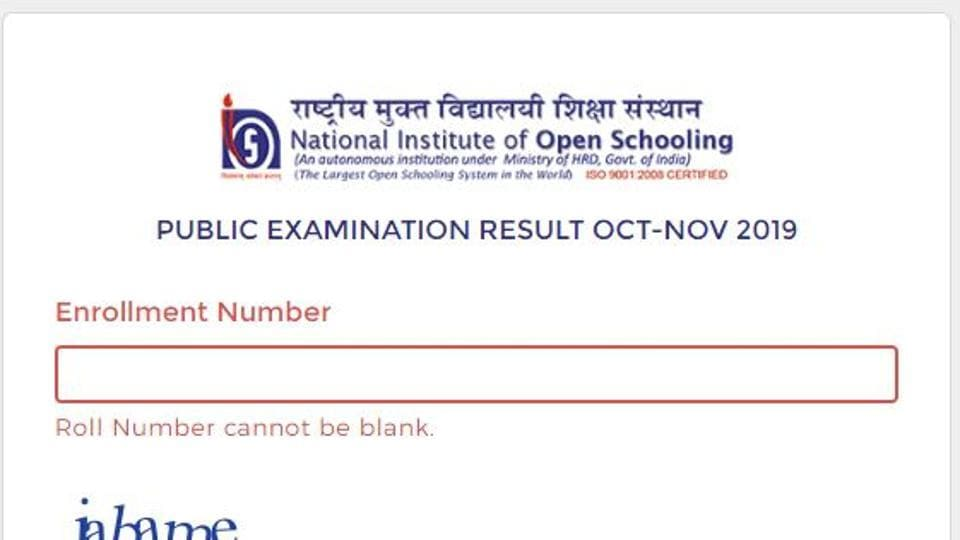 The National School of Open Schooling on Tuesday activated the link to check the Class 10 and Class 12 public examination results.